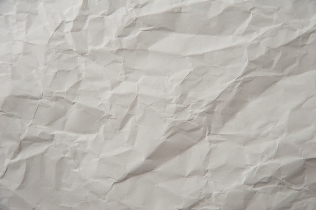 Tekstura zmięty papier biały