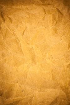 Tekstura zmięty papier brązowy.