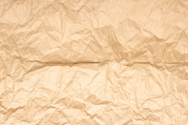 Tekstura zmięty papier rzemiosła brązowy