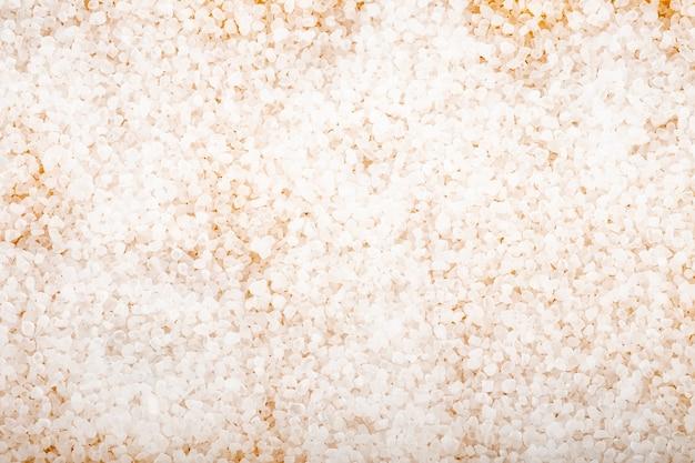 Teksturowane białe tło soli do kąpieli