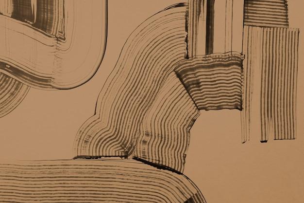 Teksturowane tło w odcieniach ziemi w brązowej sztuce abstrakcyjnej