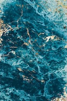Teksturowany marmur w kolorze niebieskim i złotym