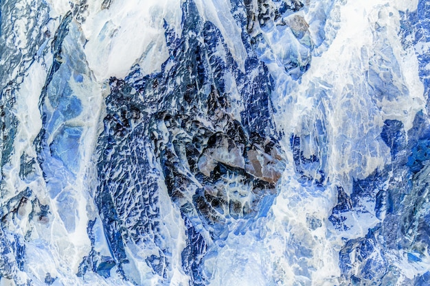 Tekstury i tła kamienia lub skały i lodu.