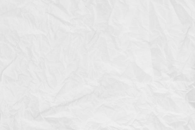 Tekstury papieru. biała zmięta kartka papieru