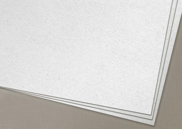 Tekstury papieru na białym tle