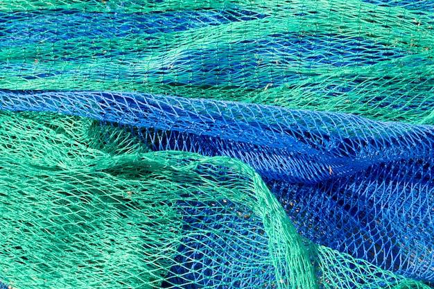 Tekstury połowów sieci rybackich z morza śródziemnego