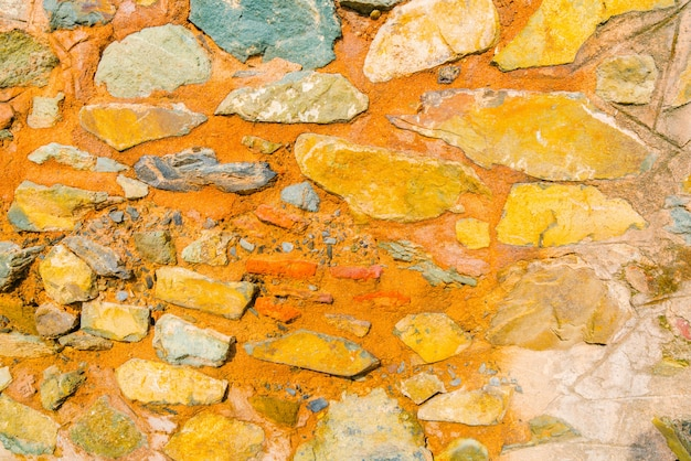Tekstury ściany z kamienia.