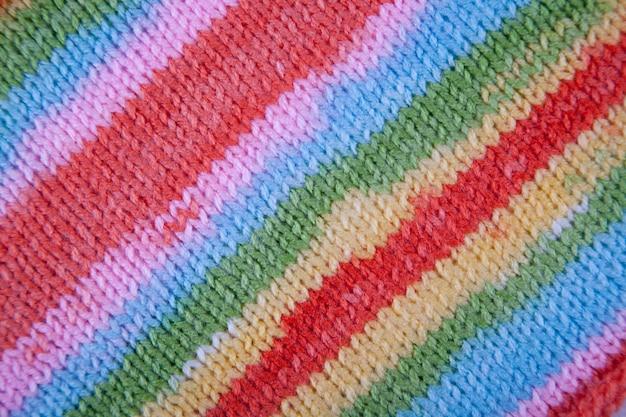 Tekstury tkaniny dzianiny w paski. streszczenie tło wzór linii bliska