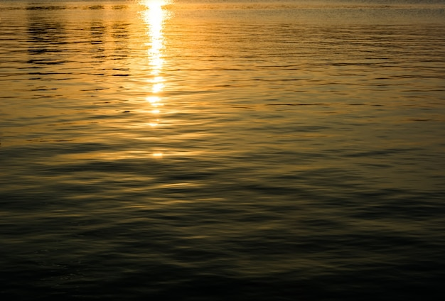 Tekstury wody zachód słońca