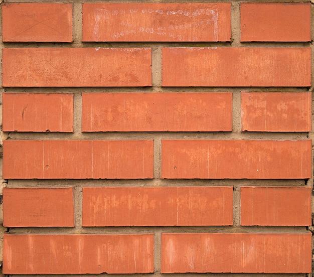 Tekstury z nowej czerwonej cegły