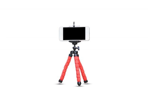 Telefon komórkowy telefon komórkowy na białym tle urządzenie technologii ekranu makiety