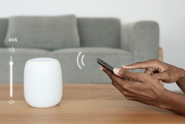 Telefon łączący się z inteligentnym głośnikiem
