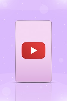 Telefon z ikoną logo instagram na ekranie 3d
