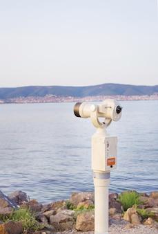 Teleskop w pobliżu molo