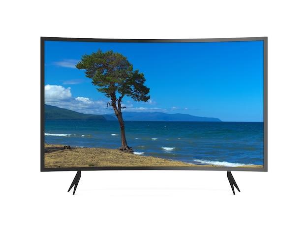 Telewizor na białym tle. izolowana ilustracja 3d