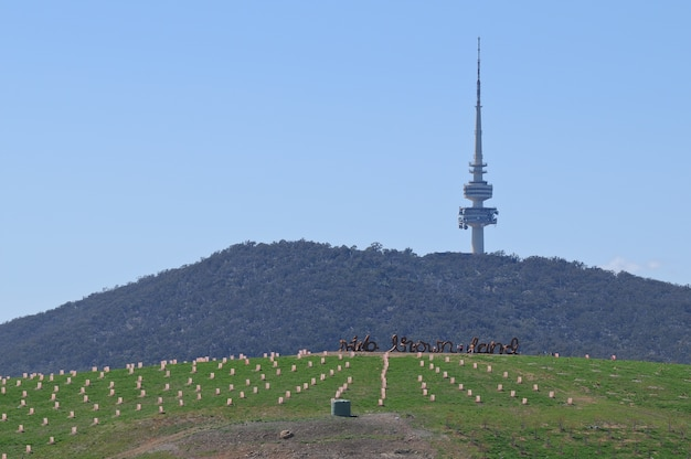 Telstra radio communication tower w canberze w australii