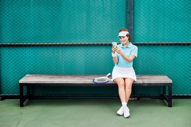 Tenis asian ethnicity athlete girl woman young concept