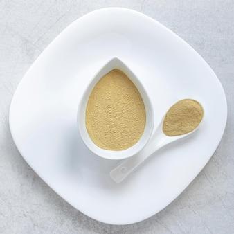 Terapia relaksacyjna spa sand flat lay