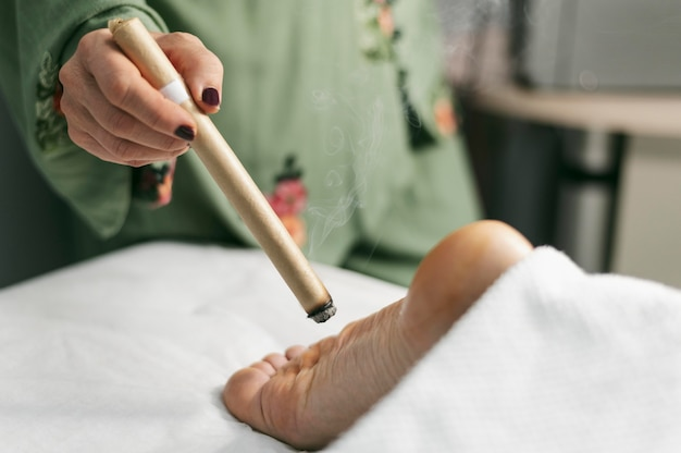 Terapia stóp z bliska