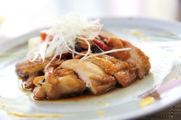 Teriyaki z kurczaka z ryżem
