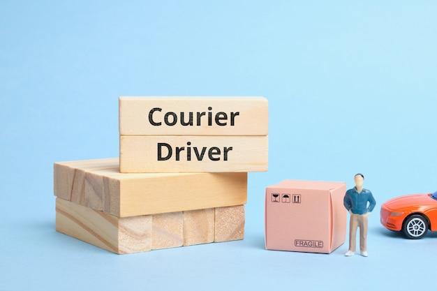 Termin branża kurierska kierowca kurierski. dostawa towarów samochodem.