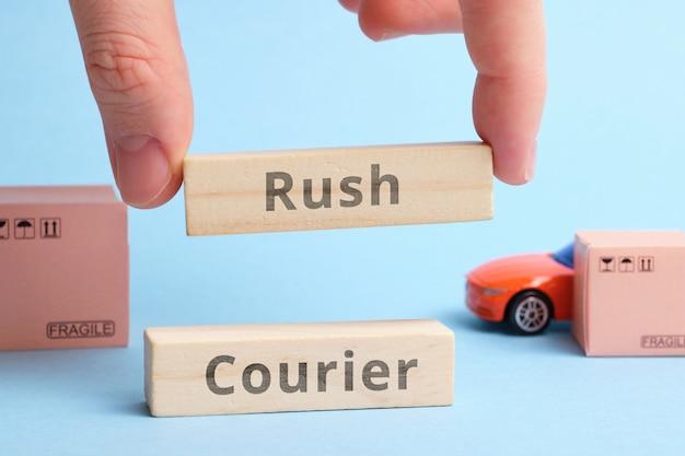 Termin branża kurierska rush courier. szybka i natychmiastowa dostawa w krótkim czasie.
