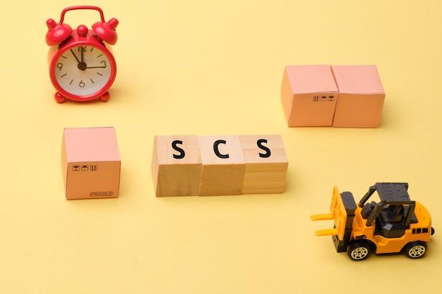 Termin branża kurierska usługi łańcucha dostaw scs.