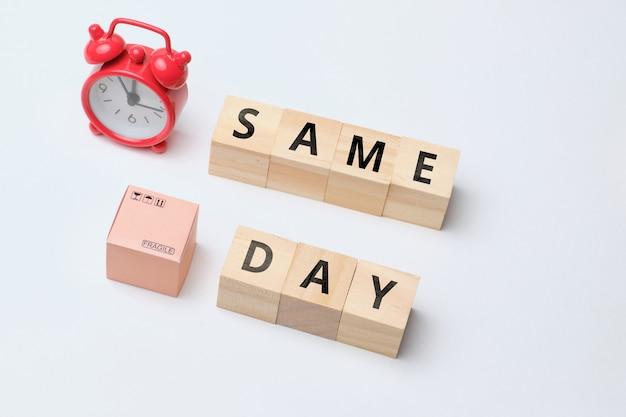 Termin branży kurierskiej na dostawę towarów tego samego dnia.