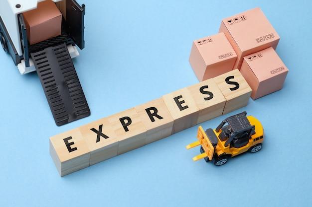 Termin branży kurierskiej najszybsza droga dostawa - ekspresowa.