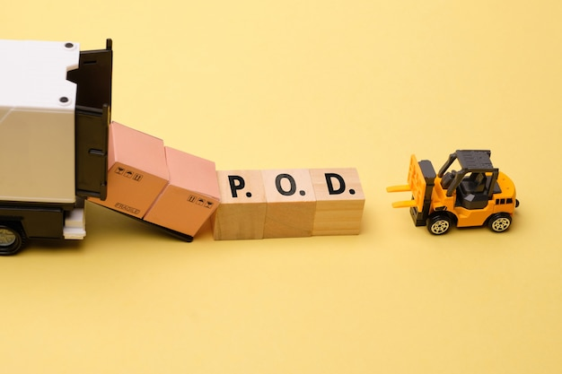 Termin dostawy dla firmy kurierskiej, dowód dostawy lub osoba przy dostawie lub miejsce dostawy.