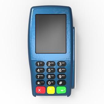 Terminal płatniczy kartą. pos terminal odizolowywający na białym tle