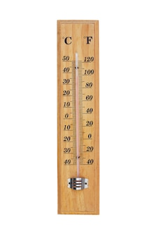 Termometr na białym tle.
