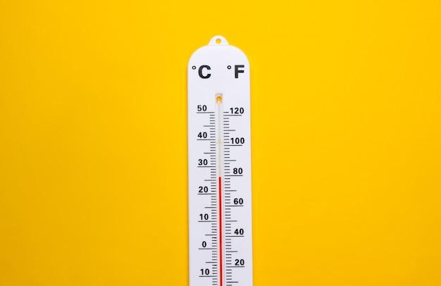 Termometr pogodowy na żółto