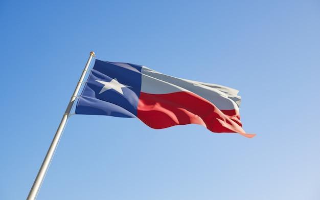 Texas us state flag niski kąt