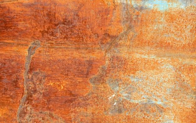 Textured czerwieni rdzy ściany tło, starzejąca się rocznik powierzchnia, horyzontalna.