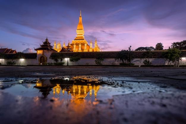 Thatluang to najpiękniejsza kultura wientianu laosu