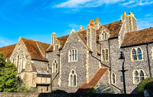 The king's school, najstarsza szkoła publiczna w wielkiej brytanii. canterbury, anglia