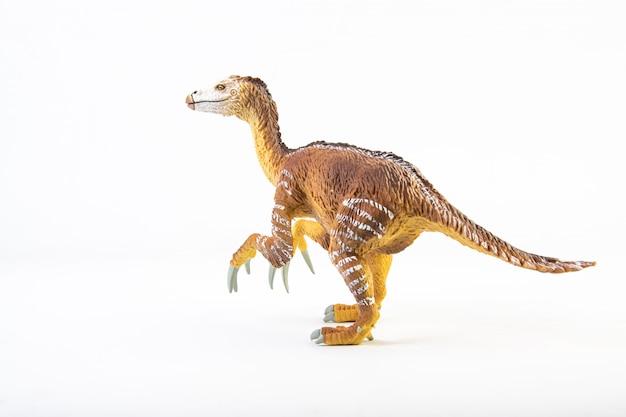 Therizinosaurus, dinozaur na białym tle