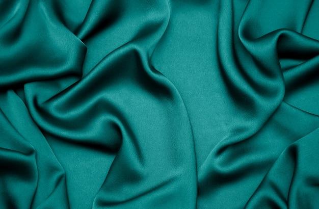 Tidewater zielony kolor jedwabiu drapowany tkaniny tło