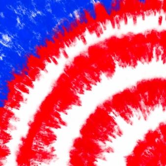 Tie barwnik flaga amerykańska tło czerwony i niebieski kolor abstrakcyjna psychodeliczna tekstura patriotyczne usa pa