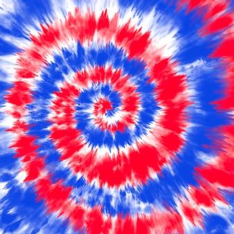 Tie barwnik flaga amerykańska w tle czerwony i niebieski kolor!