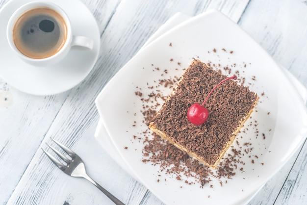 Tiramisu z polewą czekoladową