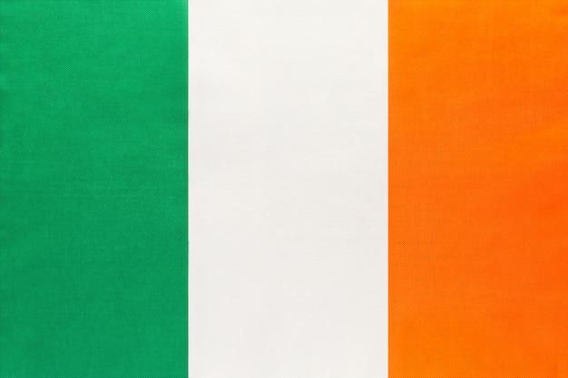 Tkanina flagi narodowej irlandii