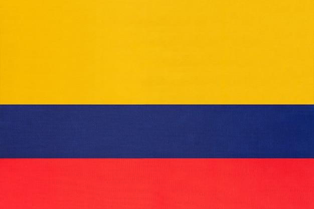 Tkanina flagi narodowej kolumbii
