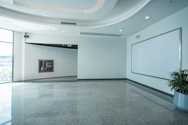 Tkanina pop up jednostka podstawowa reklama banerowa wyświetla tło, puste tło