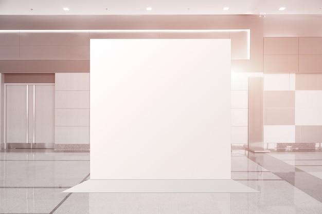 Tkanina pop up jednostka podstawowa reklama banerowa wyświetla tło, puste