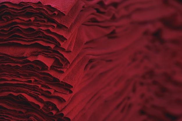 Tkanina tekstylna. fabryka tekstyliów. materiał w fabryce włókienniczej.