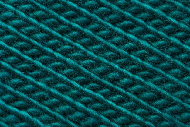 Tkanina wełniana, przednia strona, z przędzy do dziania w kolorze zielonym