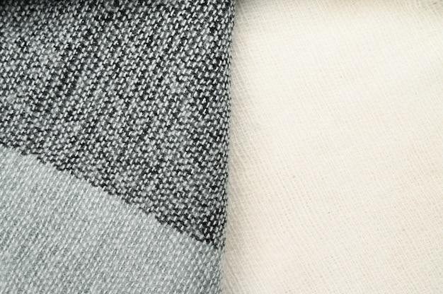 Tkanina wełniana w ciemnym kolorze, z bliska. wysokiej jakości zdjęcie