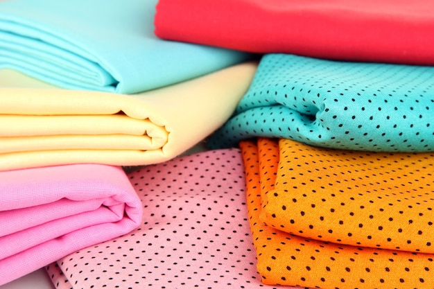 Tkaniny z bliska